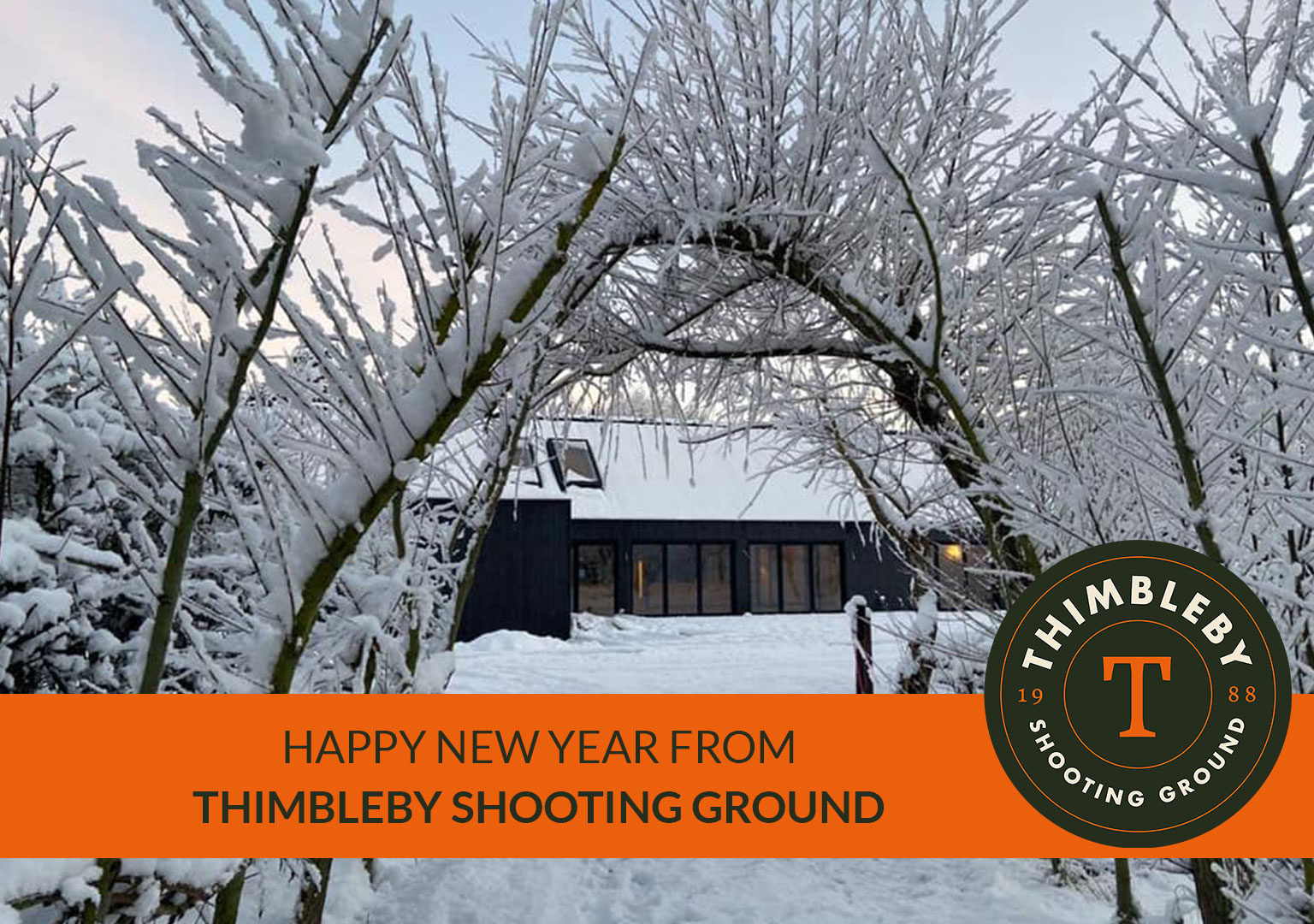 Snowy Clubhouse at Thimbleby Shooting Ground